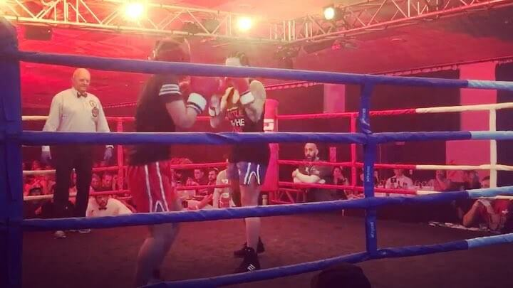 My missus fought her first fight last night, and she won 👊🏽 much respect to anyone who gets in the ring, win or lose, big ups!! @racheleireniaxis love you girl